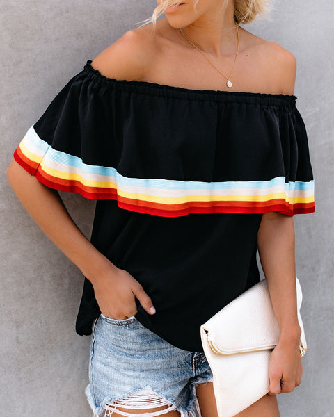 Dark Side Of The Moon Off The Shoulder Top - Black