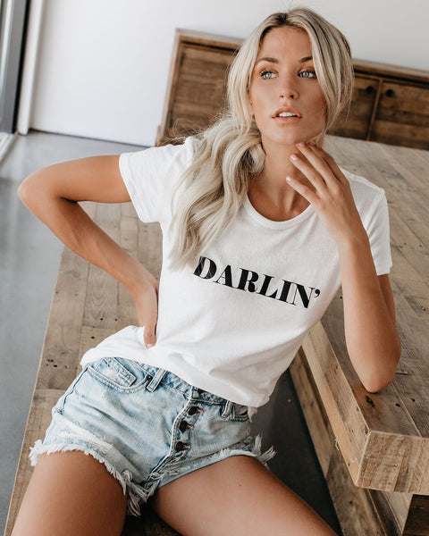 Darlin' Cotton Blend Tee