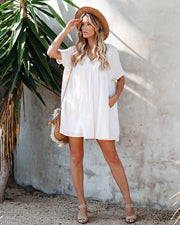 Darling Cotton Pocketed Babydoll Tunic - Natural
