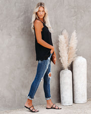 Days Like This Scalloped Tank - Black