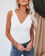 Days Of Summer Cotton Tie Bodysuit - Ivory view 7