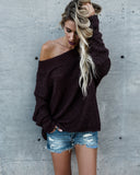 Daytona Knit Sweater - Maroon