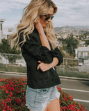 Delia Denim Jacket - Black