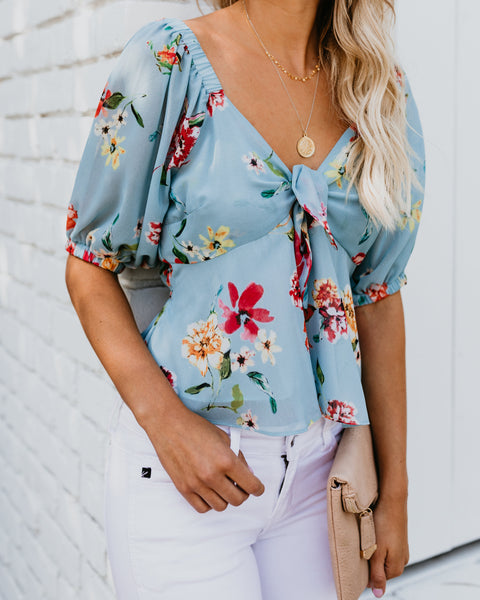 Delicate Daylily Tie Blouse - FINAL SALE
