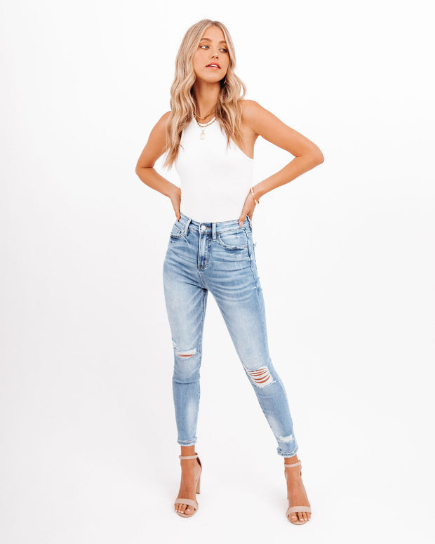 Demand High Rise Distressed Skinny view 8