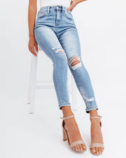 Demand High Rise Distressed Skinny view 10