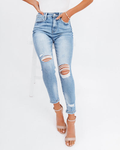 Demand High Rise Distressed Skinny