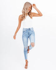 Demand High Rise Distressed Skinny view 5