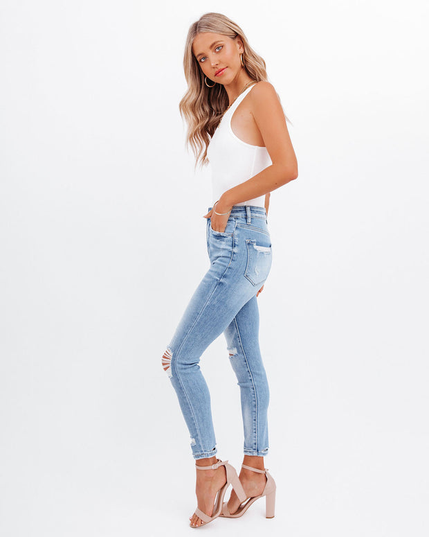 Demand High Rise Distressed Skinny view 9