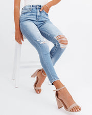Demand High Rise Distressed Skinny view 6