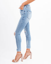 Demand High Rise Distressed Skinny view 7