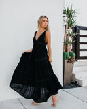 Deserted Lace Maxi Dress - Black