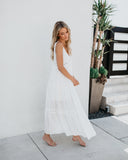 Deserted Lace Maxi Dress - Off White