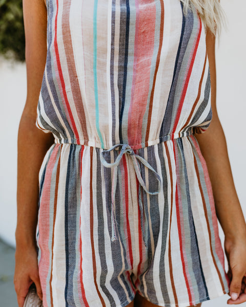 Desert Dunes Striped Romper