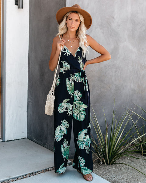 Desert Palms Jumpsuit - Navy - FINAL SALE