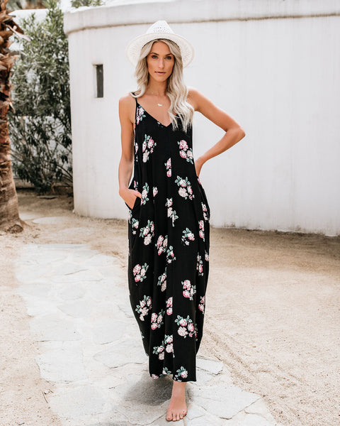 Desert Rose Pocketed Olivian Maxi Dress