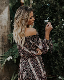 Cathedral Off The Shoulder Dress