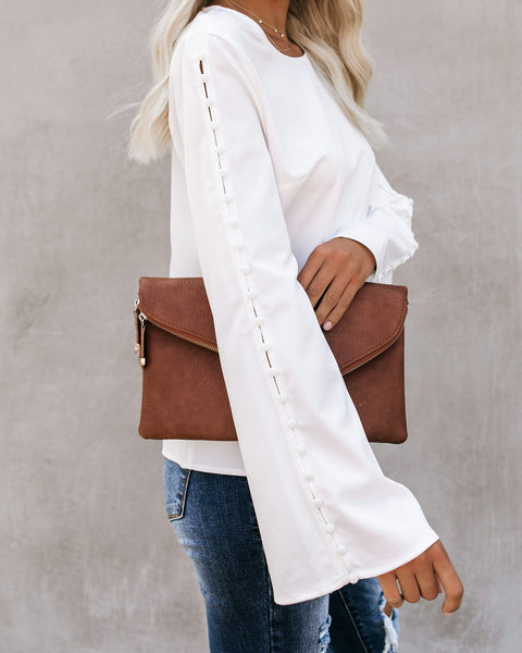 Desire Bell Sleeve Blouse - Off White - FINAL SALE