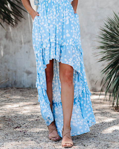 Desire Pocketed Off The Shoulder High Low Maxi Dress - FINAL SALE