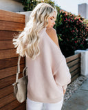 Devout Cold Shoulder Sweater - Twig