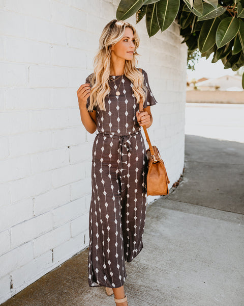 Diamond Creek Jumpsuit - Charcoal