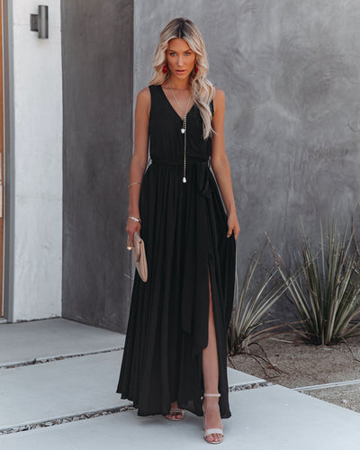 Diana Sleeveless Maxi Dress - Black