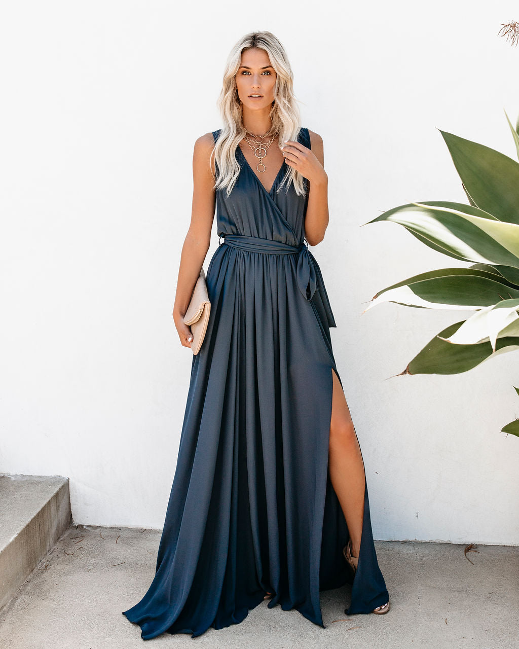 1a8dfc7cbc0 PREORDER - Diana Sleeveless Maxi Dress - Slate – VICI