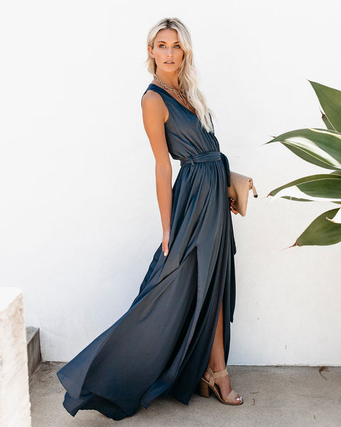 Diana Sleeveless Maxi Dress - Slate