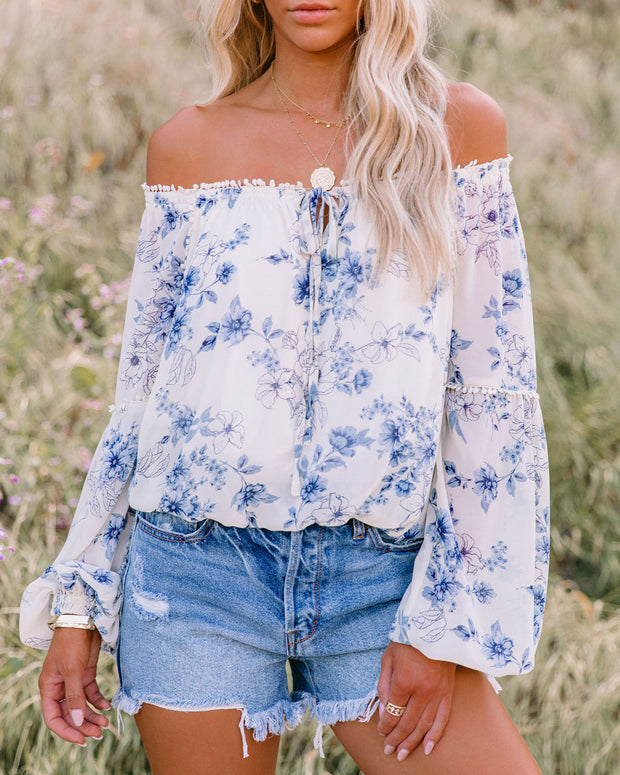 Discovery Floral Off The Shoulder Blouse view 7