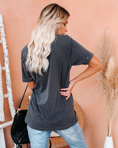 Distressed Cotton Wild At Heart Tee