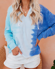 Dive Into Summer Cotton Blend Tie Dye Hoodie  - FINAL SALE