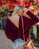 Don't Get It Twisted Sweater - Burgundy
