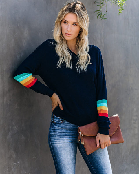 Double Rainbow Knit Sweater