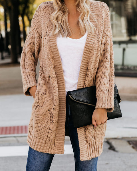 Douglas Pocketed Cable Knit Cardigan - FINAL SALE