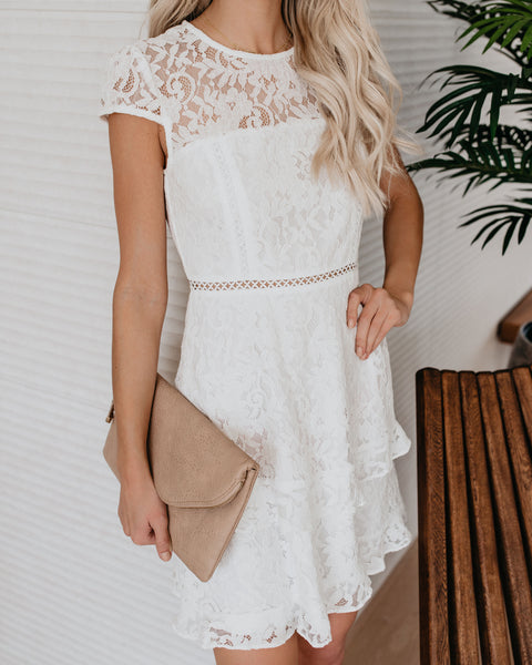 Down The Aisle Lace Dress - FINAL SALE