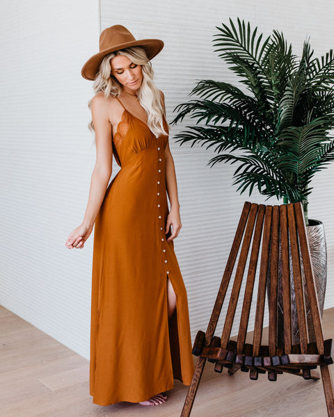 Dream Come True Slip Maxi Dress - Honey