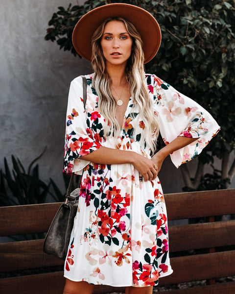 Dream Of Summer Floral Babydoll Dress - FINAL SALE