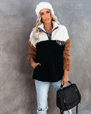 Dress For Comfort Pocketed Sherpa Pullover