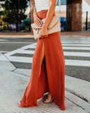 Drop Dead Gorgeous Maxi Skirt - Rust - FINAL SALE