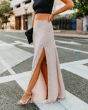 Drop Dead Gorgeous Maxi Skirt - Taupe