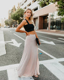 Drop Dead Gorgeous Maxi Skirt - Taupe - FINAL SALE