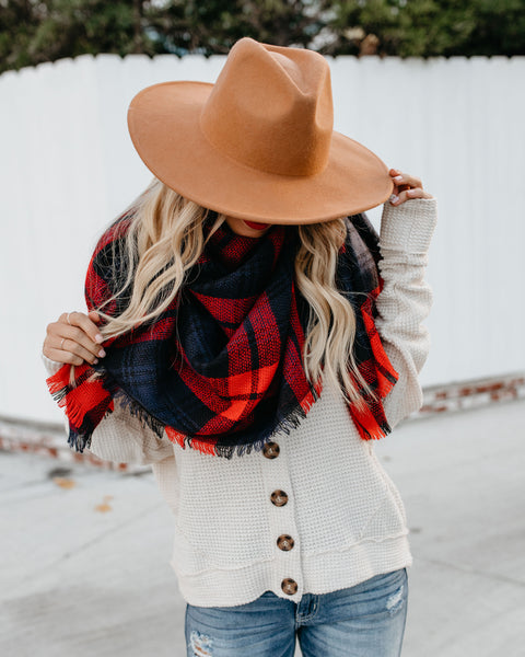 Dublin Plaid Blanket Scarf
