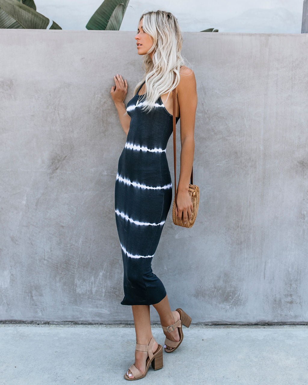 77d675bc2450 Dyeing To Know Ribbed Midi Dress - Charcoal – VICI