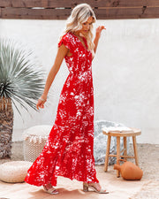 Dynamite Floral Tiered Maxi Dress view 7