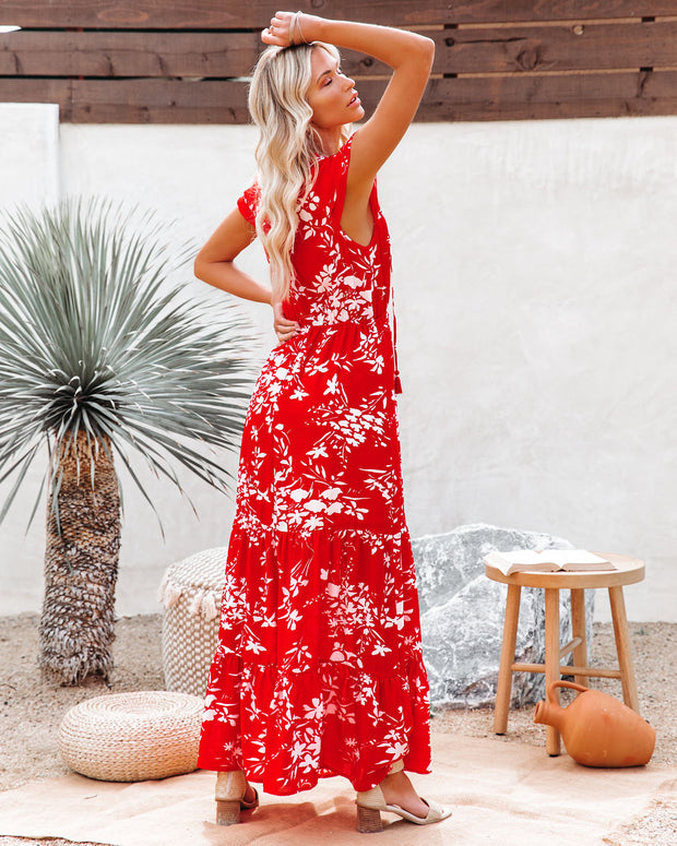 Dynamite Floral Tiered Maxi Dress view 2