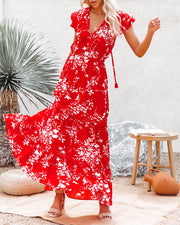 Dynamite Floral Tiered Maxi Dress view 3