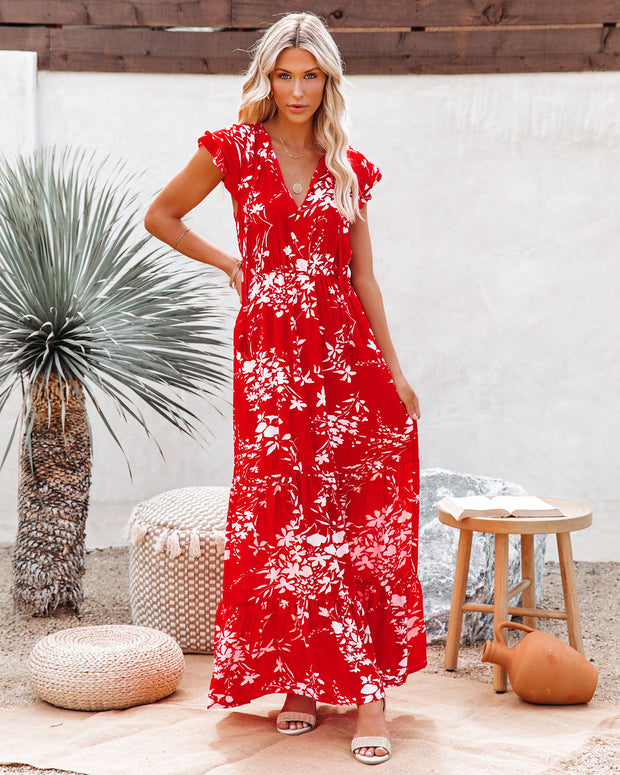 Dynamite Floral Tiered Maxi Dress view 1
