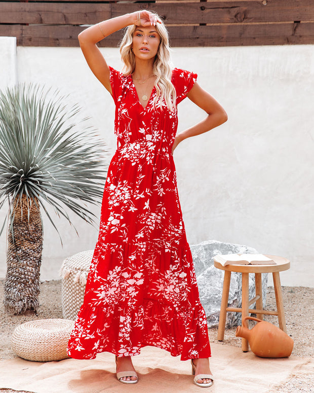 Dynamite Floral Tiered Maxi Dress view 5