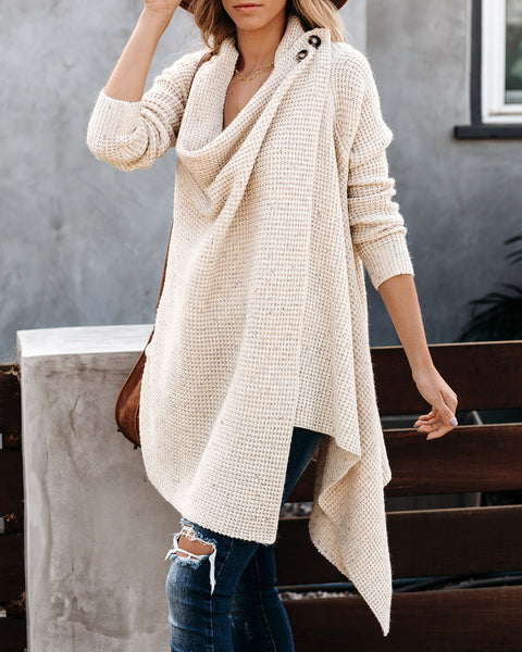 Eagle Rock Pocketed Thermal Drape Cardigan