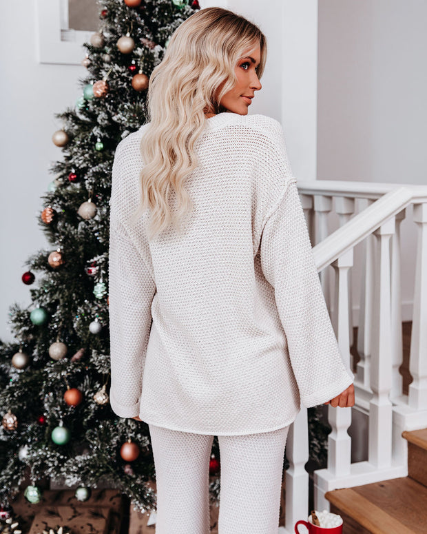 Early Mornings Cotton Blend Henley Sweater